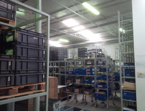 Návrh a realizace osvětlení výrobní haly a skladu Milevsko